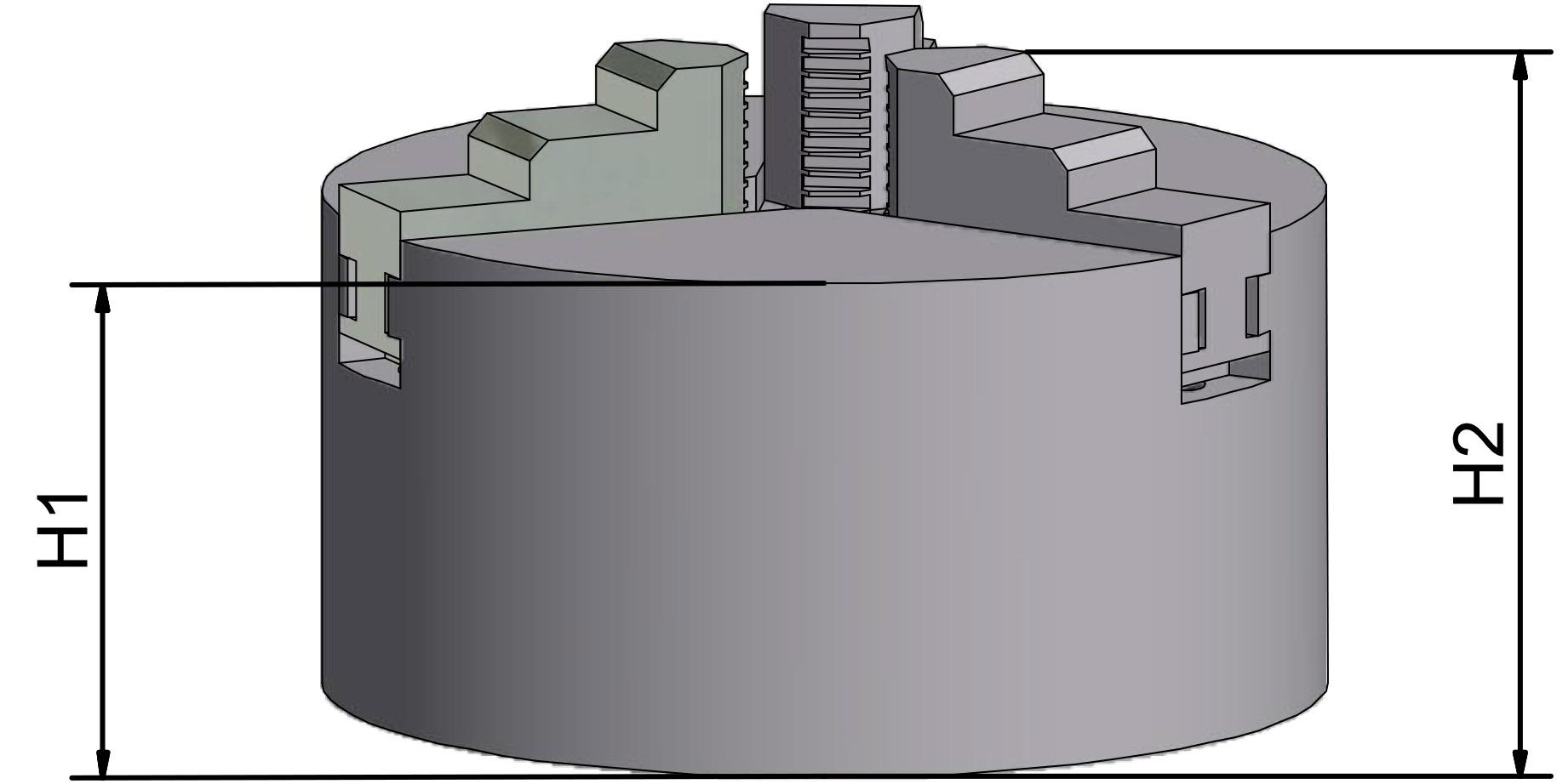 WABECO 3 Backenfutter 100 mm Dreibackenfutter Drehbankfutter 10711