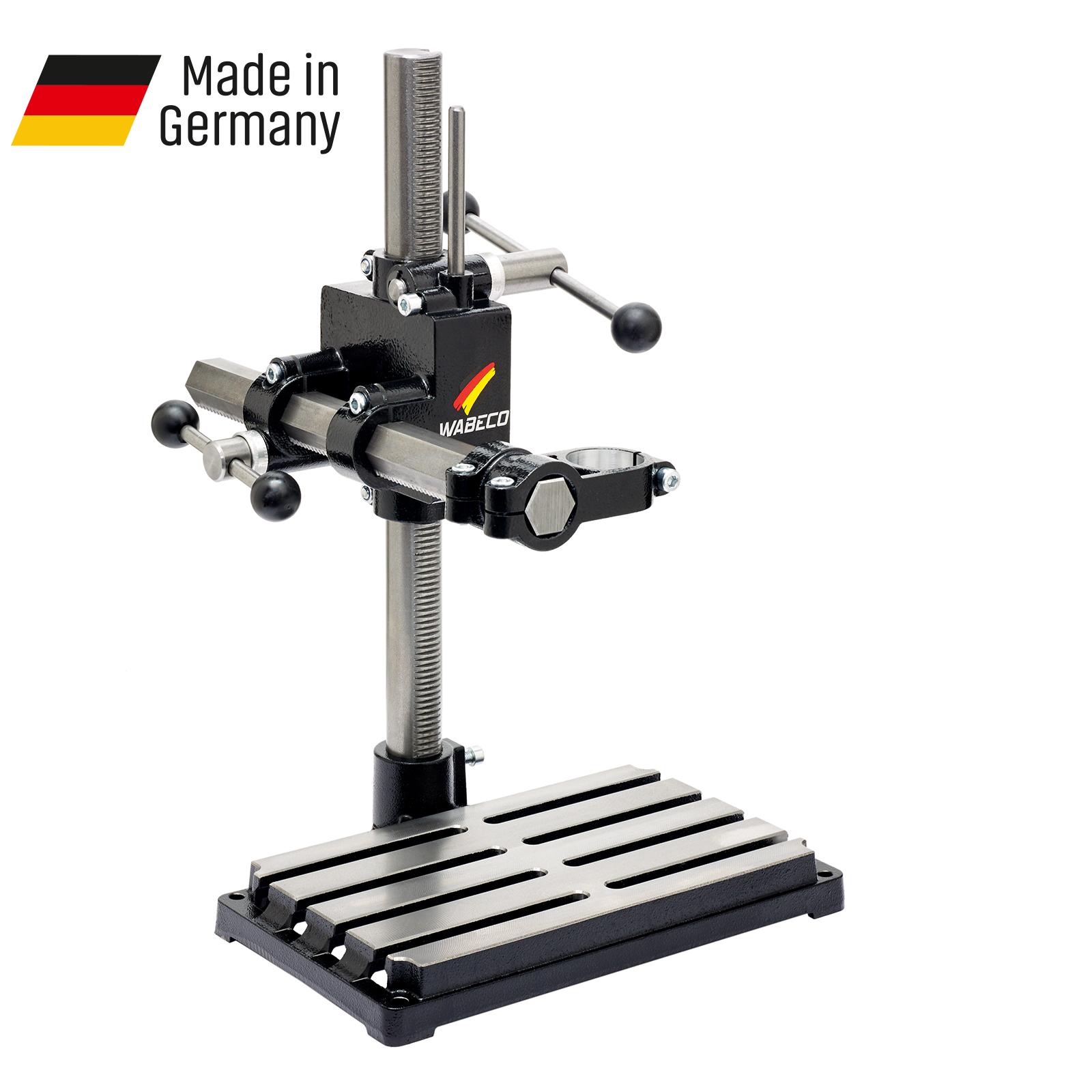 WABECO-Bohrstaender-Fraesstaender-BF1240-Stahl-Saeule-500-mm-Stahl-Ausleger-350-mm