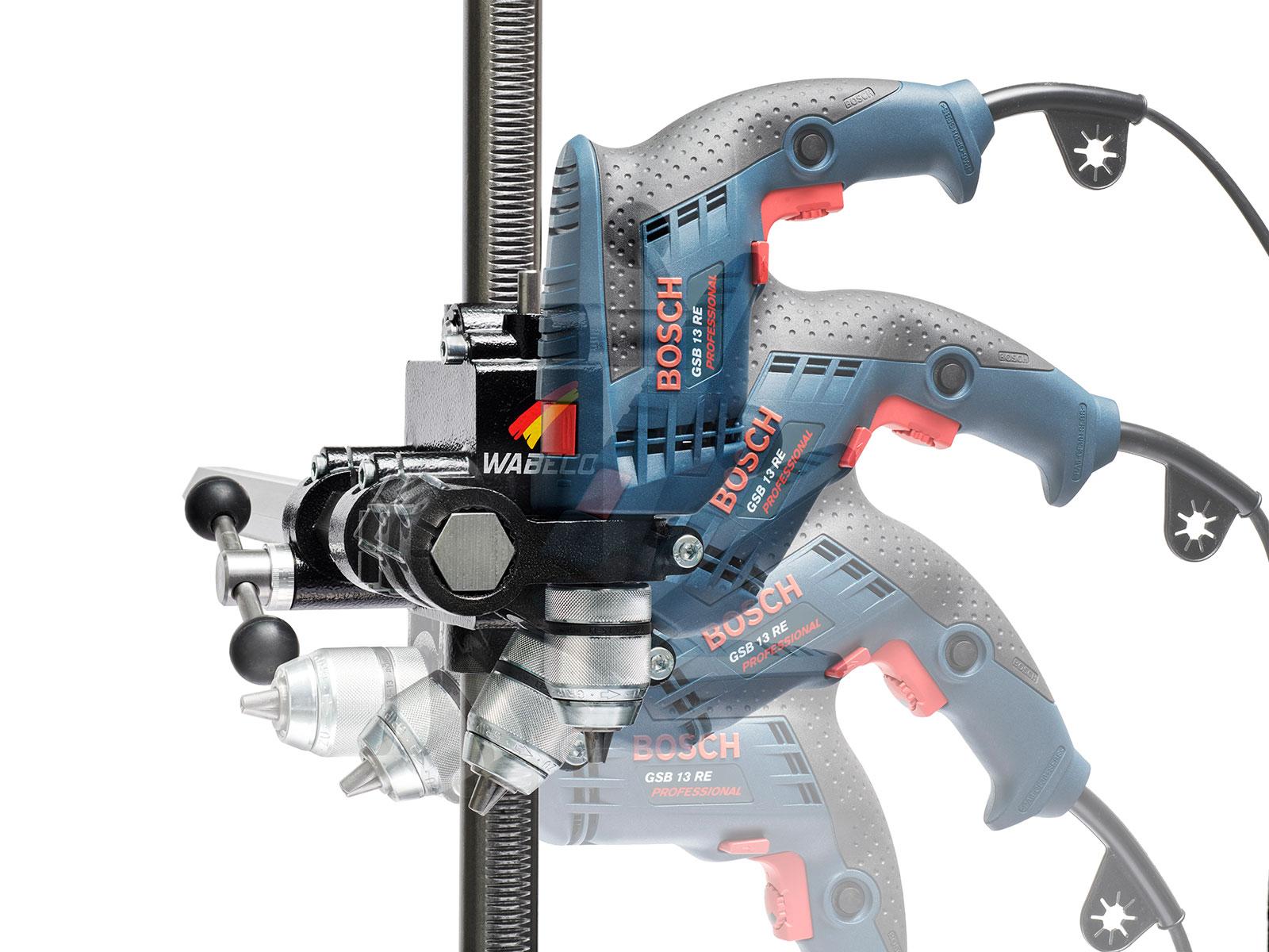 WABECO-Bohrstaender-Fraesstaender-BF1240-Stahl-Saeule-500-mm-Stahl-Ausleger-350-mm Indexbild 2