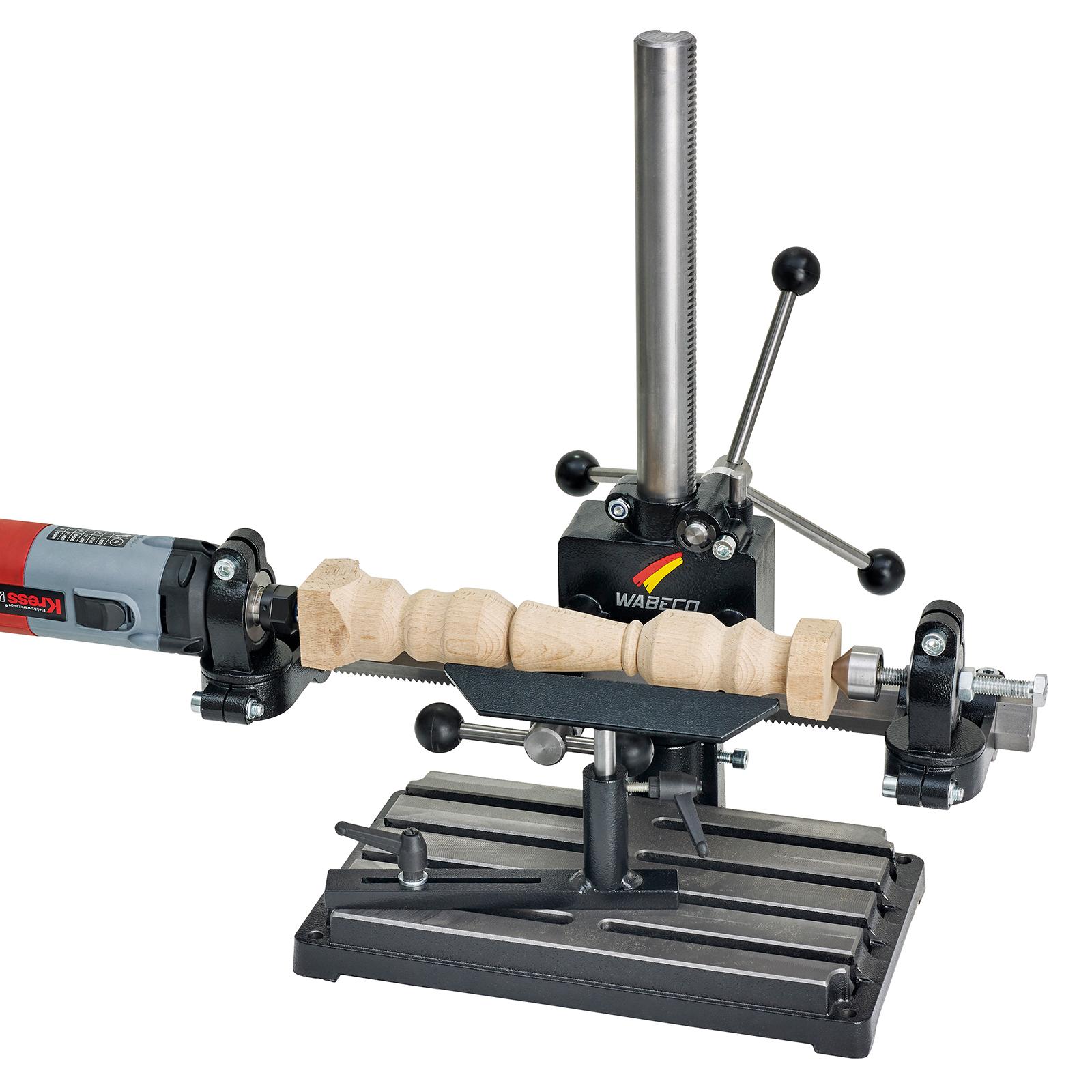 WABECO-Bohrstaender-Fraesstaender-BF1240-Stahl-Saeule-500-mm-Stahl-Ausleger-350-mm Indexbild 11