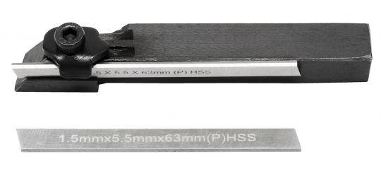 Abstechstahl Halter 8x8 mit 2 Abstechmesser