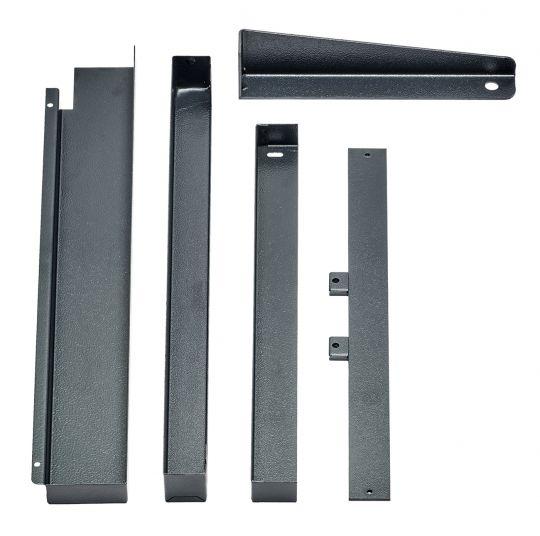 Anbausatz und Schutzabdeckung für 3 Glasmaßstäbe