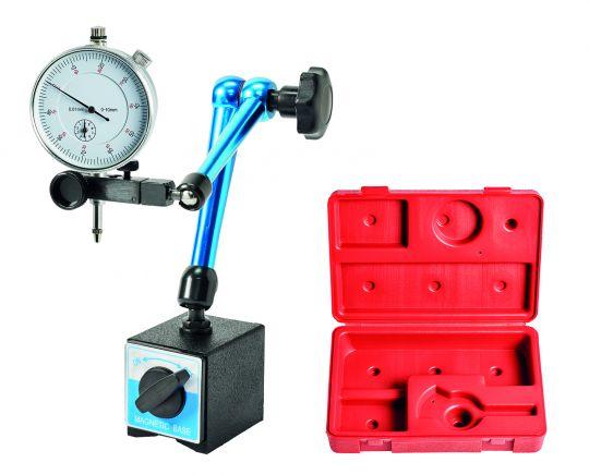 Magnet-Messstativ mit Messuhr